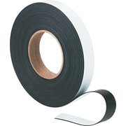 "Magna Visual Magnetic Strips, White, 1"" x 50' Roll"