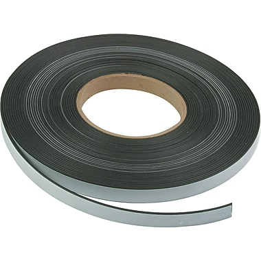 Magna Visual Adhesive-Backed Magnetic Tape, 1/2