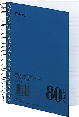 Mead Five Star Single-Subject Mid Tier Notebook, 7