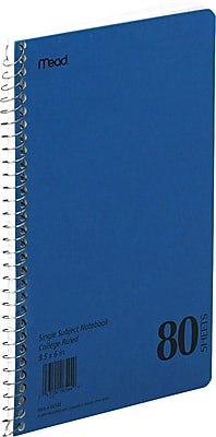 """388817 33360 Xtreme 3-Subject Notebook 6/"""" x 9.5/"""" 150 College Sheets Blue"""