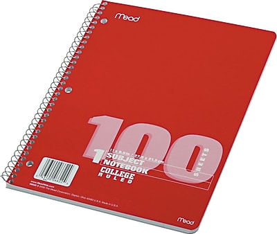 Mead Spiral 1-Subject Notebook, 8 1/2