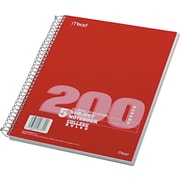 """Mead® Spiral® Notebook, 5 Subject, College Ruled, 200 Sheets, 11"""" x 8 1/2"""", Assorted Colors (06780)"""