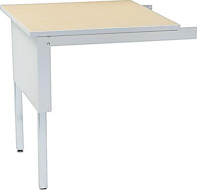 Mayline Mailflow-To-Go Corner Table, Pebble Gray, 29