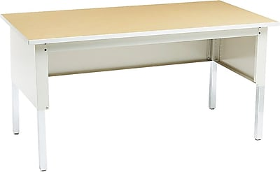 Mayline Mailflow-To-Go Mailroom Worktable, Pebble Gray, 29