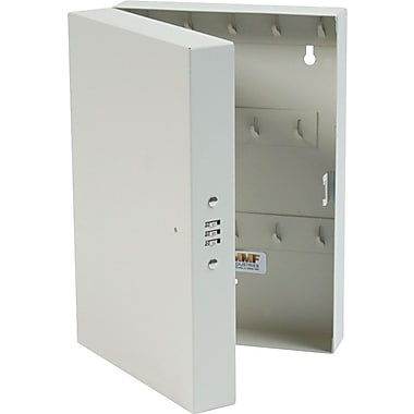 MMF Industries™ STEELMASTER® 28-Key Hook-Style Cabinet with Combo Lock, Putty, 11 1/2