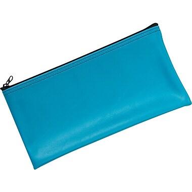 MMF Industries™ Zipper Wallet, Leatherette Vinyl, Marine Blue, 11