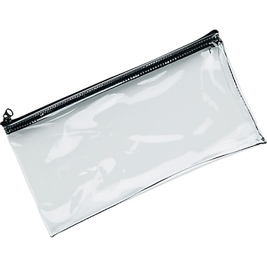 MMF Industries™ Clear Vinyl Zipper Wallets, Retail Pack, 6
