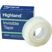 """Highland™ Invisible Tape, Matte Finish, 3/4"""" x 36 yds., 1 Roll (620034X36)"""
