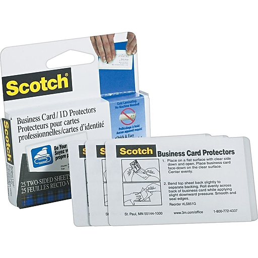 Scotch 95 mil business card size self adhesive laminating pouches httpsstaples 3ps7is reheart