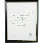 "NuDell™ EZ Mount Document Frame, Black with Gold Border, 8-1/2"" x 11"""