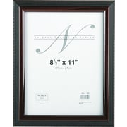 "NuDell™ Executive Frame, Black with Mahogany Border, 8-1/2"" x 11"""