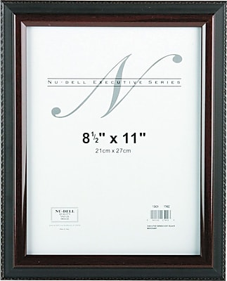NuDell™ Executive Frame, Black with Mahogany Border, 8-1/2