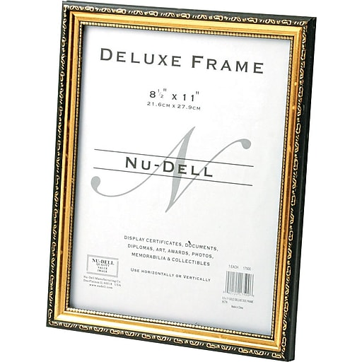 Dlx Doc Frame 85x11 Gold Staples
