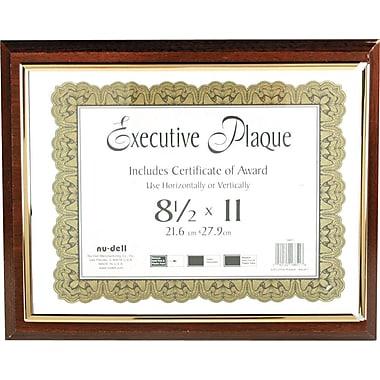 NuDell™ Prestige Executive Award Plaque, Walnut, 13
