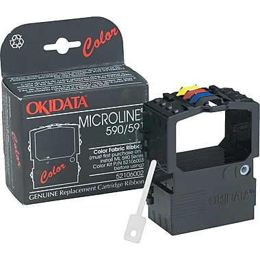 Okidata 4-Color Nylon Ribbon for Okidata Microline 590, 591 Printers