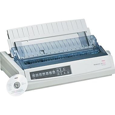 OKI® TURBO ML321 Dot Matrix 9-Pin Printer, 62411701