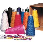 Pacon® Trait-tex® Double Weight Yarn Cones, Assorted, 2-Ply, 2 oz, 12/Box (00590)