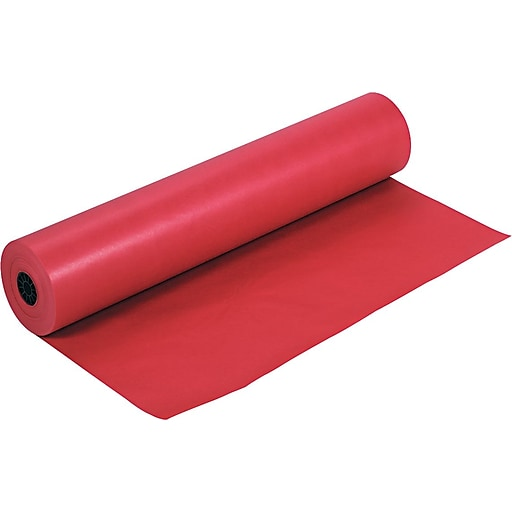 pacon rainbow kraft paper roll 36 w x 1000 l red staples