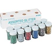 Pacon Glitter Assortment, 3/4 oz. Jars, 12/Pk