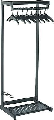 Quartet® Two-Shelf Garment Rack, Freestanding, Black, 61-1/2