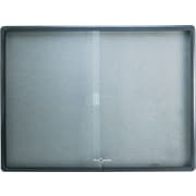 Quartet® 4' x 3' Enclosed Fabric Bulletin Board with Graphite Frame and Sliding Doors