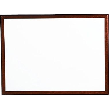 Quartet® Premium DuraMax® Porcelain Magnetic Whiteboard, 4' x 3', Mahogany Frame (2544M)