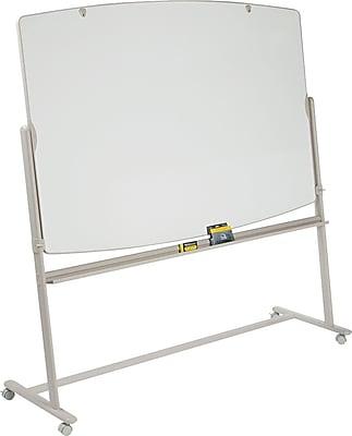 Quartet® Lg. Reversible Total Erase® Mobile Easel/Whiteboard, 6' x 4', Neutral
