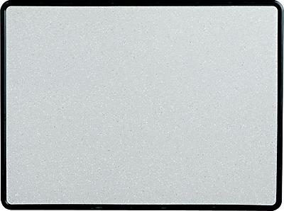 Quartet® Contour® Granite Bulletin Board, Black Frame, 4'W x 3'H