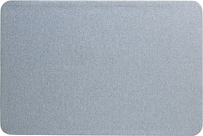 Quartet® Oval Office™ Fabric Bulletin Board, 3' x 2', Frameless, Gray