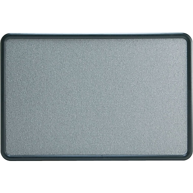 Staples Fabric Bulletin Board, Gray Fabric with Black Frame, 3'W x 2'H