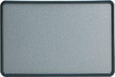 Staples Faux Granite Bulletin Board, Black Plastic Frame, 3'W x 2'H