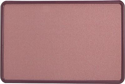 Quartet® Contour® Fabric Bulletin Board, Burgundy Frame, Mauve Fabric, 3'W x 2'H