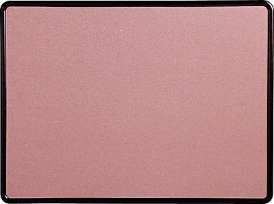 Quartet® Contour® Fabric Bulletin Board, Burgundy Frame, Mauve Fabric, 4'W x 3'H