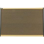 Quartet® Prestige® Colored Cork Bulletin Board, Maple Finish Frame, 3'W x 2'H