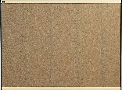 Quartet® Prestige® Colored Cork Bulletin Board, 4' x 3', Maple Finish Frame