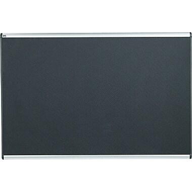 Quartet® 6' x 4' Prestige® Black Embossed Foam Bulletin Board with Aluminum Frames