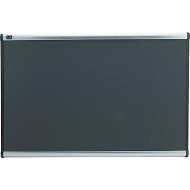 Quartet® Prestige® Gray Diamond Mesh Fabric Boards with Aluminum Frames