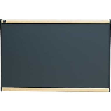 Quartet® 3' x 2' Prestige® Gray Diamond Mesh Fabric Bulletin Board with Maple Finish Frame