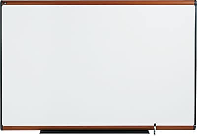 Quartet® Prestige® Total Erase® Whiteboard, 6' x 4', Light Cherry Frame, Writing Grid (TE547LC)