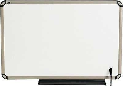 Quartet® Prestige® Total Erase® Whiteboard, Writing Grid, Euro™ Frame, Aluminum/Titanium, 3'W x 2'H (TE563T)