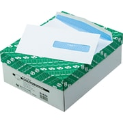 """Quality Park Gummed Insurance HFCA-1500 Security Tinted Window Envelopes, 4 1/2"""" x 9 1/2"""", White, 500/Bx"""