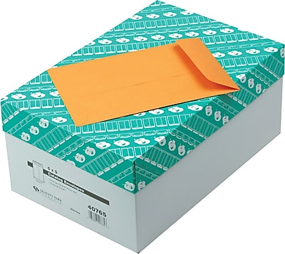 Quality Park Gummed Open-End Catalog Envelopes, 6