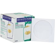 "Quality Park Inhumed CD / DVD Envelopes, 4 7/8"" x 5"", White , 250/Bx"