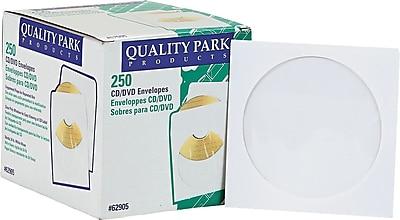 Quality Park Ungummed CD / DVD Envelopes, 4 7/8