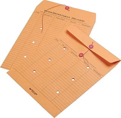 """""Quality Park Products 10"""""""" x 13"""""""" Recycled Brown 28 lbs. Standard Style Inter-Departmental Envelopes"""""" 917098"