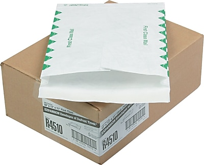 Quality Park Tyvek® First Class Booklet Expansion Mailers, #97, 14-lb., White, 10