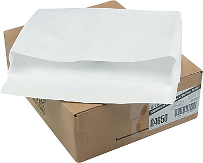 Quality Park Flap-Stick® Lightweight Tyvek® Open-End Expansion Envelopes, 12
