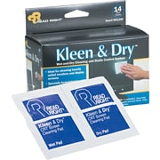 Read Right Kleen & Dry Wet/Dry Wipes, 14/Box