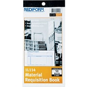 "Rediform Material Requisition Book, 2 Parts, Carbonless, 4 1/4"" x 7 7/8"", 50/Pk"