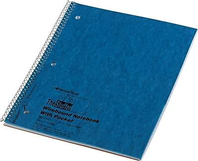 National® 1-Subject Stuffer Notebook, Inside Pocket, 8 7/8